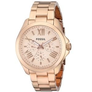 Fossil Cecile Rose Gold-tone Steel Watch